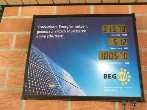 Unsere gemeinsame Fotvoltaikanlage