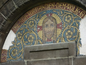 das restaurierte Mosaik