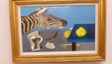 Lucian Freud - Quitte auf blauem Tisch