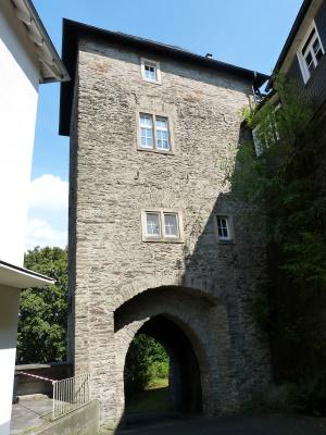 die Marburger Pforte - freier Zugang zur Anlage des Oberen Schlosses