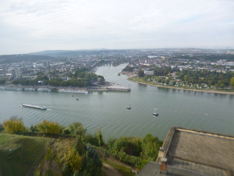 Blick auf Koblenz - unser Tagungsort