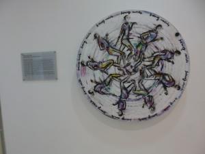 eines der Kunstwerke im Treppenhaus