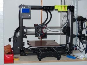 ein 3-D Drucker für die Erstellung des Stadtmodells