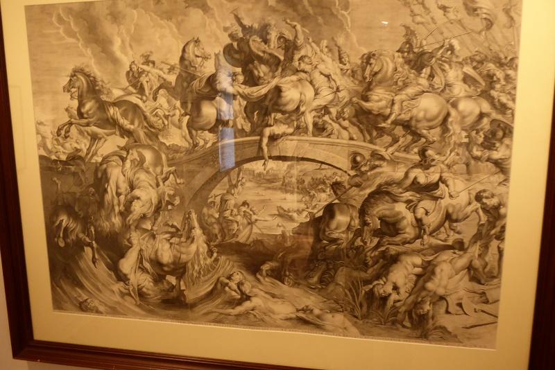 Schlacht der Amazonen - Kupferstich