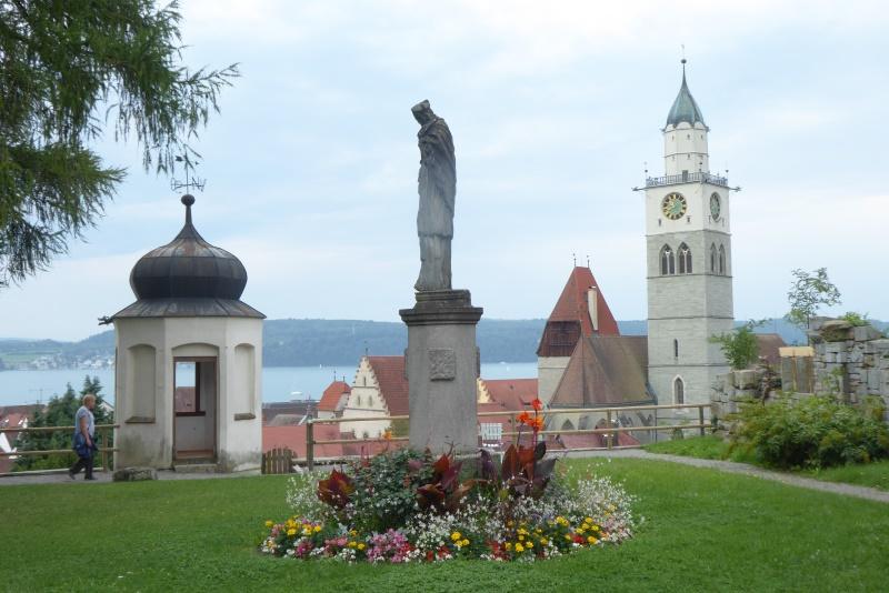 Blick vo Museumsgarten auf das Münster St. Nikolaus