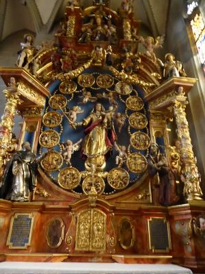 Rosenkranzaltar im Münster - 1631 von Martin und Davis Zürn