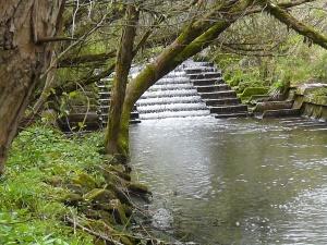 das ehemalige Treppenwehr