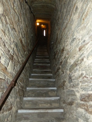 Aufstieg im Turm