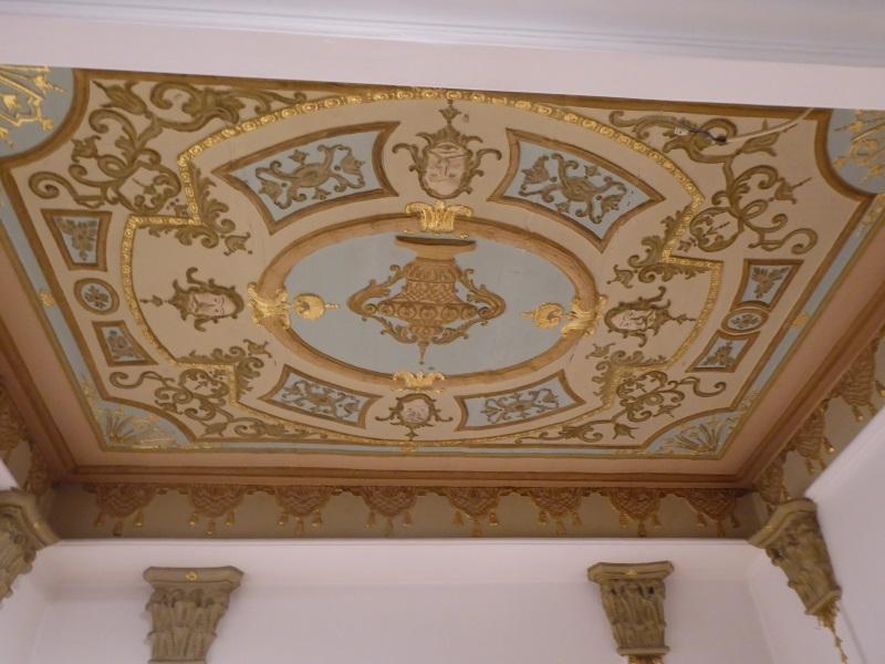 die Decke im Erker des Rubens-Saales